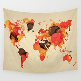 Design 138 World Map Wall Tapestry
