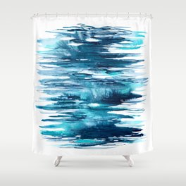 Gentle Surf - Abstract Ocean Watercolor Water Reflections Shower Curtain