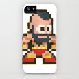 Zanglief 8 bit water color  iPhone Case