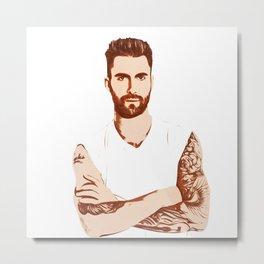 Adam Levine - Pop Art Metal Print