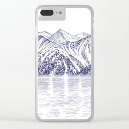 TURNAGAIN ARM AND THE CHUGACH RANGE ON THE COOK INLET ALASKA Clear iPhone Case