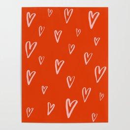 Heart Doodles 2 Poster