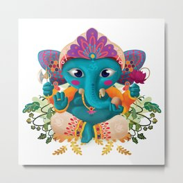 Little Ganesha Metal Print