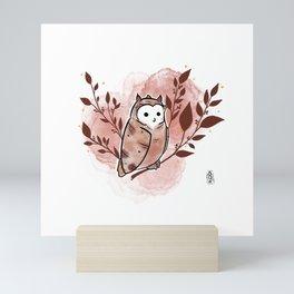 Ruddy owl Mini Art Print