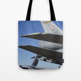 KC10 KC-10 Military Refueling Airplane And C17 C-17 Globemaster Cargo Aircraft USAF Tote Bag