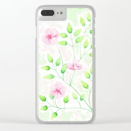 Floral Spring Clear iPhone Case