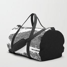 New York city map black and white Duffle Bag