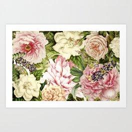 Bloom Garden Botanical Flowers Art Art Print