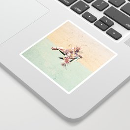 Turtle and bouquet Sticker