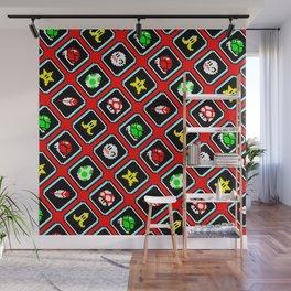 Super M. Kart nostalgia pattern   red shell   retrogaming gift Wall Mural