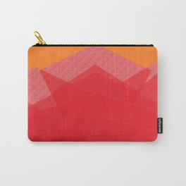 Colorful Red Abstract Mountain Carry-All Pouch