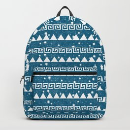 Mountain Pattern Blue Backpack