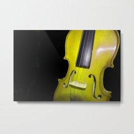 Yellow Violin Metal Print
