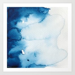BLUE WINTER #2 Art Print