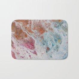 WHITE WASH | Fluid abstract art by Natalie Burnett Art Bath Mat