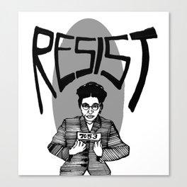 Resist Rosa Parks Canvas Print