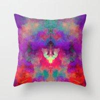 rorschach Throw Pillows featuring Rorschach  by Marta Olga Klara