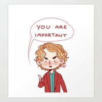 enjolras Art Prints featuring Enjolras Reminder by Antisepticbandaid