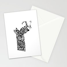 Typographic Massachusetts Stationery Cards