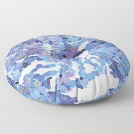 Periwinkle Flowers-Floral Design-Style 3-by Hxlxynxchxle Floor Pillow