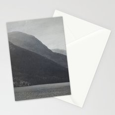 In the Shadows of Mountains Stationery Cards