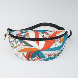Rebellion: abstract digital art fashionable modern colors Fanny Pack