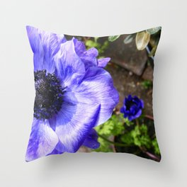 Blue Anemone // Throw Pillow