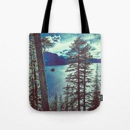 Crater Lake Vintage Summer Tote Bag