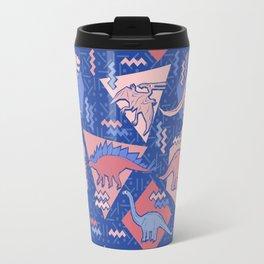 Nineties Dinosaurs Pattern  - Rose Quartz and Serenity version Travel Mug