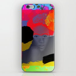 Woman Sited With Hat and Flowers iPhone Skin