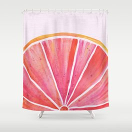 Sunny Grapefruit Watercolor Shower Curtain