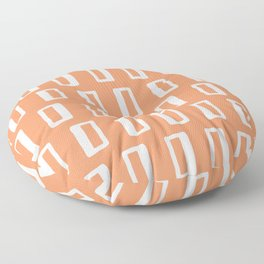 Chad Pattern Orange 22 Floor Pillow