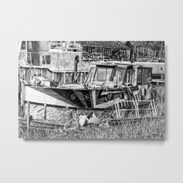 Old boat. Metal Print