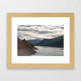 Autumn lake view Framed Art Print