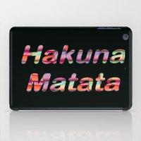 hakuna iPad Cases featuring Hakuna Matata by Laura Santeler