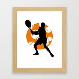 TENNIS Clay Backhand Balls Framed Art Print