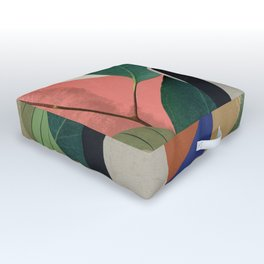 Tropical Girl Outdoor Floor Cushion