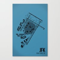 jfk Canvas Prints featuring JFK by 08 Left