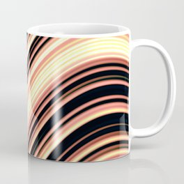 Wavy Brown Stripes Coffee Mug