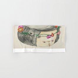 Flower Crown Frown Hand & Bath Towel