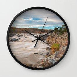 Great Autumn Sky Falls Wall Clock
