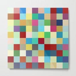 Kanaloa - Colorful Abstract Pixel Pattern Art Metal Print