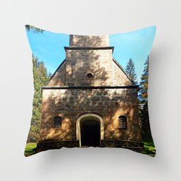 Maria Rast forest chapel 2 Throw Pillow