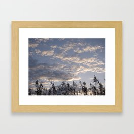 Fall Sky Framed Art Print