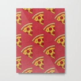FAST FOOD / Pizza - pattern Metal Print