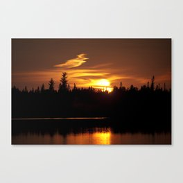 Northern Sunset 001 Canvas Print