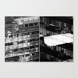 Building and Reflecting Canvas Print