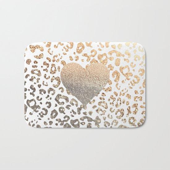 GOLD HEART LEO Bath Mat