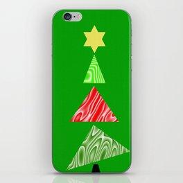 The Topsy Turvy Christmas Tree iPhone Skin