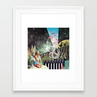 eugenia loli Framed Art Prints featuring Nexus Point ( Collaboration with Eugenia Loli ) by Mariano Peccinetti